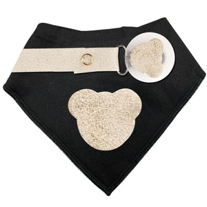 Gold Metallic Sparkle  leather Teddy bib and clip GIFT SET