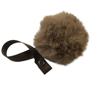 Coffee Brown big Fur Pom Pom