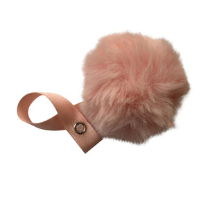 Peach Big Fur Pom Pom