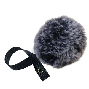 Navy Snow Big Fur Pom Pom