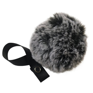 Black Snow Big Fur Pom Pom