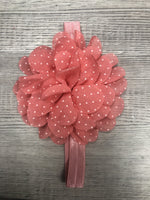 Organza dot flower Headbands clearance