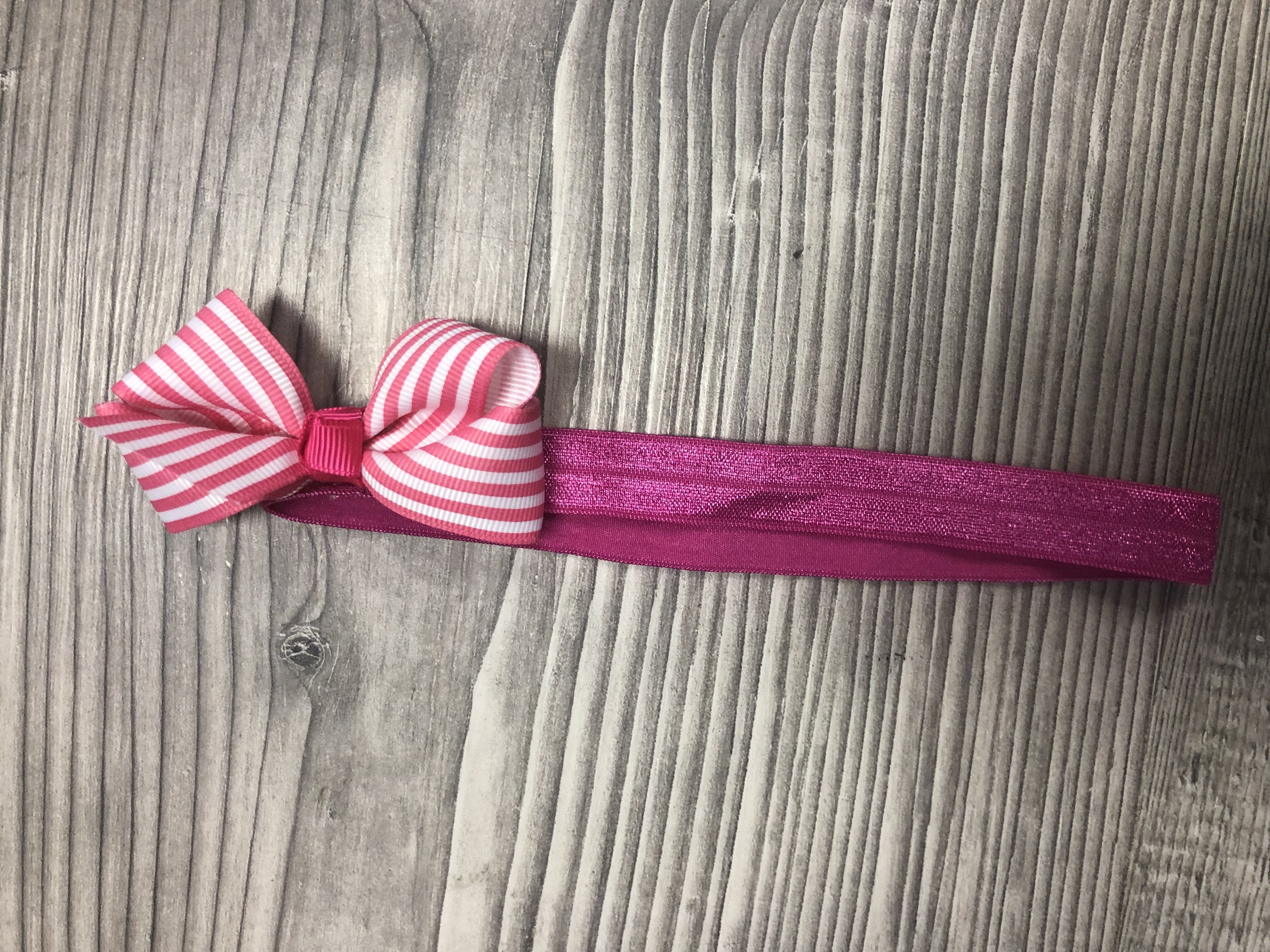 Striped bow Headbands clearance