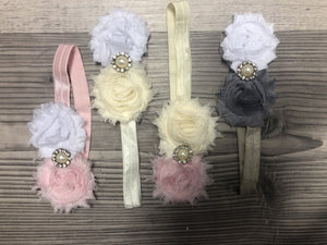 Two color rhinestone Girl Headbands clearance