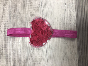 Heart Rose Girl Headbands clearance