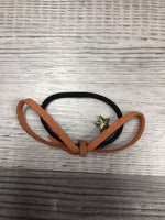 Leather Pony bow girls clearance