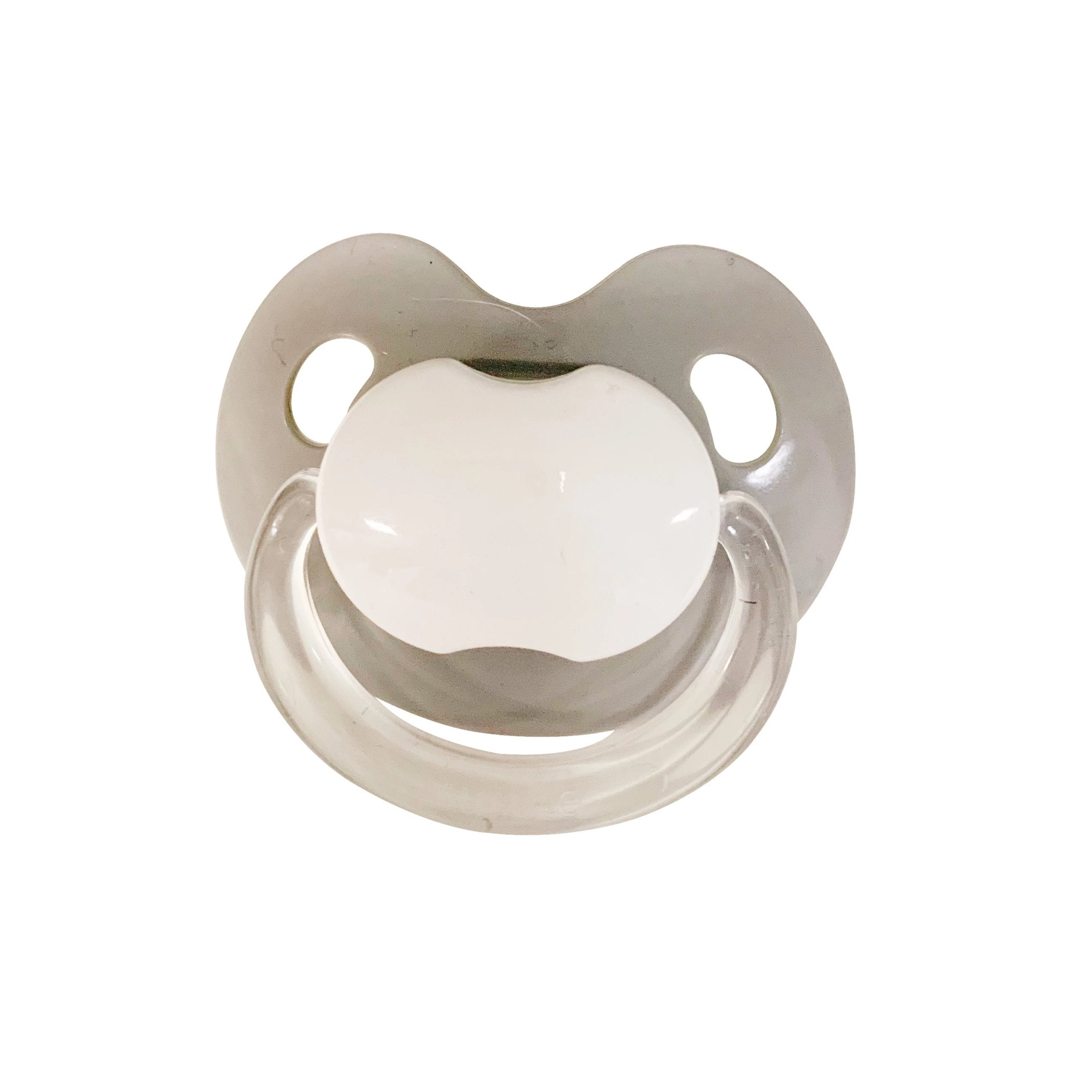 Gray Classic Asymmetrical Pacifiers