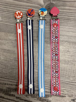 Clearance bundle of small size pacifier clip printed ribbons clearance