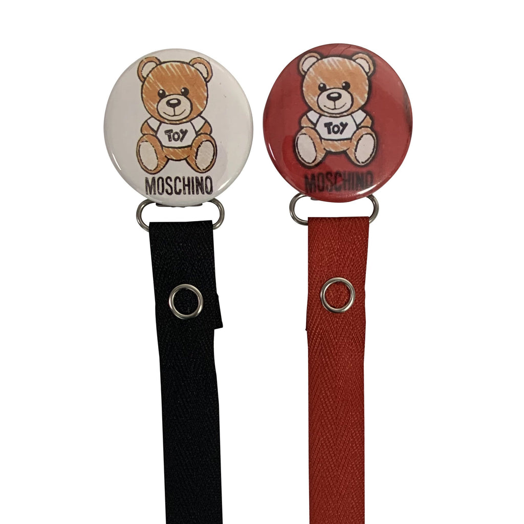 Designer inspired Teddy bear clip Gift Set matching pacifier