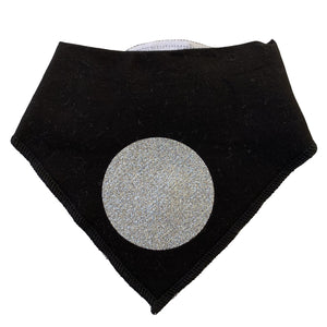 Black with silver circle sparkle bib and clip GIFT SET