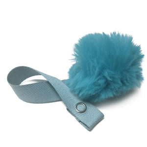 Mini Teal Fur Pom Pom