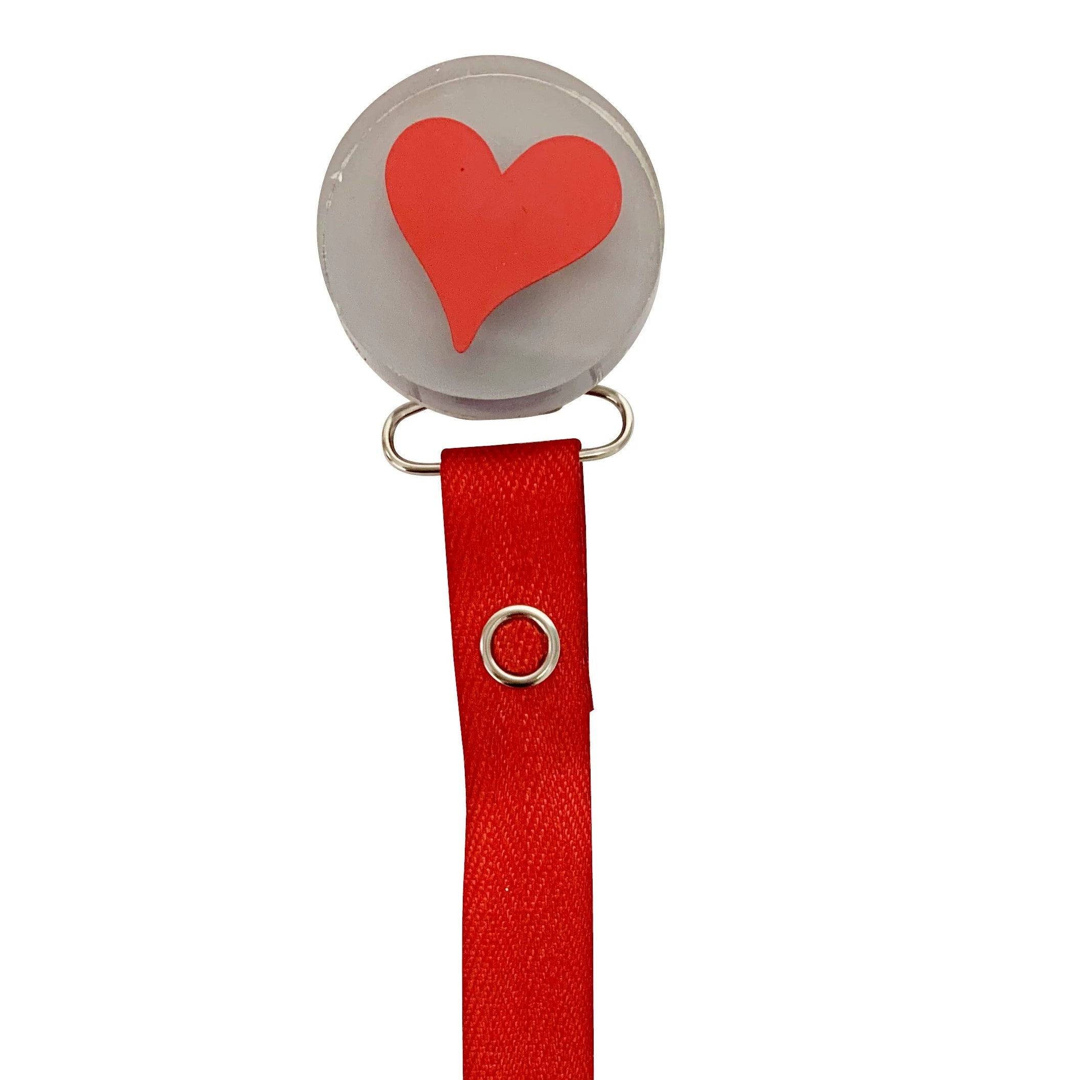 Classy Paci VIVID slanted heart color options clip with Bibs pacifier GIFT SET