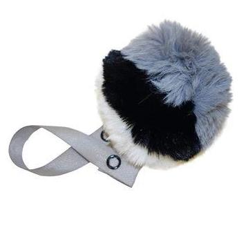 Tri Color Gray, Black & white Pom Pom