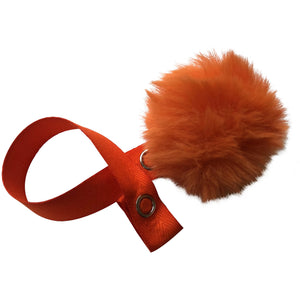 Mini Orange Fur Pom Pom
