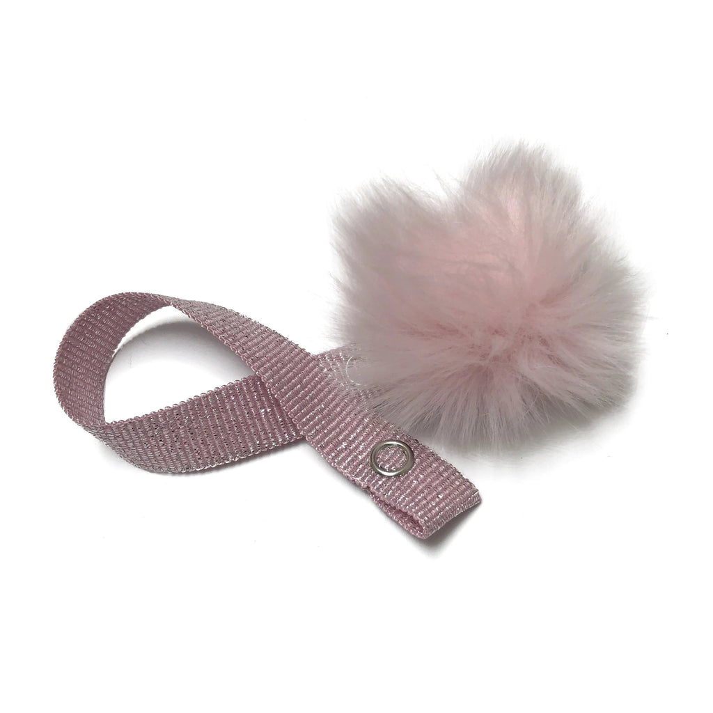 Mini Light Pink Fur Pom Pom