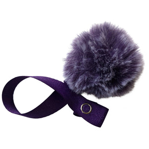 Mini Purple Snow Fur Pom Pom