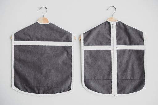 Front and back of The Hanger Valet - a kids clothes organizer
