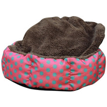 Load image into Gallery viewer, Cat Nest Colorful Leopard Print Cat and Dog Bed Pink Blue Yellowish brown, Deep pink SIZE S M L XL Puppy House