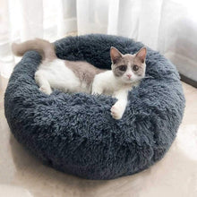 Load image into Gallery viewer, Long Plush Super Soft Pet Cat Bed Kennel Dog Round Cat Winter Warm Sleeping Bag Puppy Cushion Mat Portable Cat Supplies