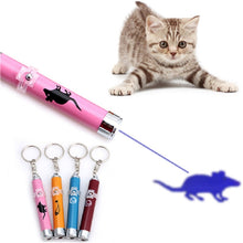 Load image into Gallery viewer, Pet Cat LED Laser Creative Funny Kitten Train Pointer Light Pen Interactive Bright Animation Mouse Shadow Infrared Stick Toy