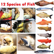 Load image into Gallery viewer, 12 Style 3D Artificial Cat Catnip Toys Fish Plush Dog Pillow Pet Cat Dog Chew Scratch Pillow Toys Sleeping Cushion 1pc