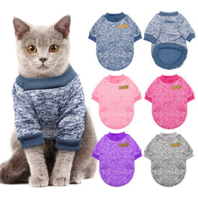 Load image into Gallery viewer, Warm Dog Cat Clothing Autumn Winter Pet Clothes Sweater For Small Dogs Cats Chihuahua Pug Yorkies Kitten Outfit Cat Coat Costume