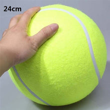Load image into Gallery viewer, 24CM Giant Tennis Ball For Dog Chew Toy Big Inflatable Tennis Ball Pet Dog Interactive Toys Pet Supplies Outdoor Cricket Dog Toy