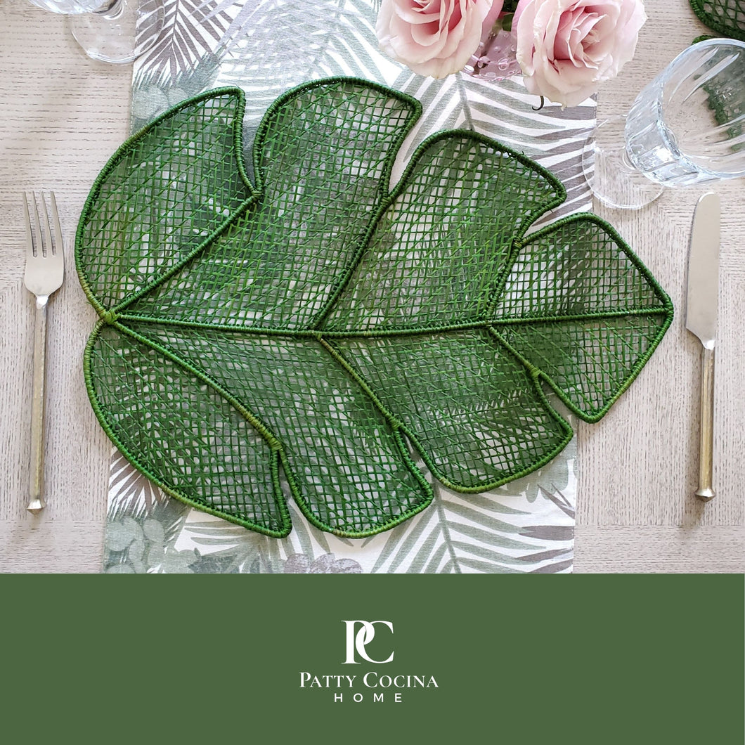 Iraca Green Leaf Placemat Set