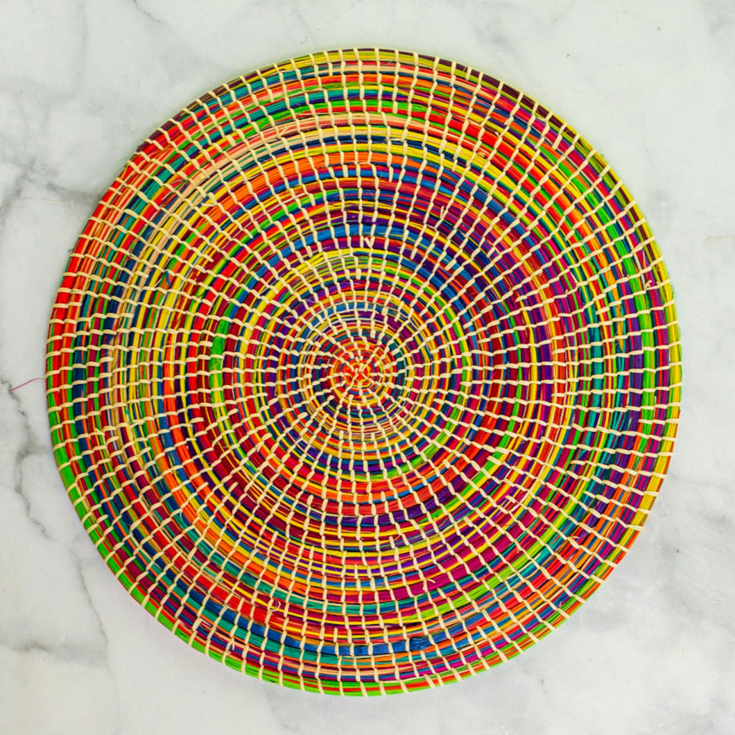Iraca Colorful Round Placemat Set