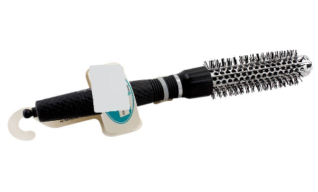 Mira Hair Brush, Round Shape, Black Color, No. 390 (4824477335637)