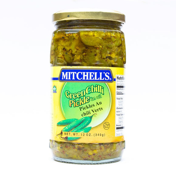 Mitchell's Green Chilli Pickle 340gm (4613440208981)