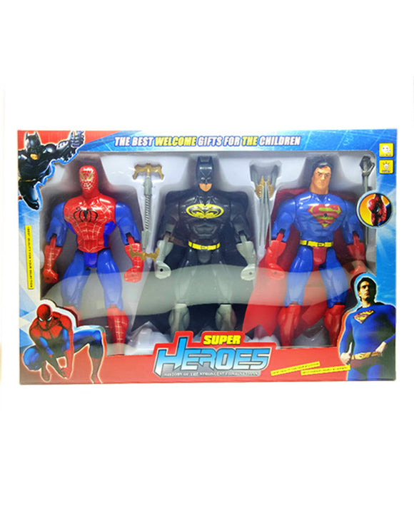 Toy Super Heroes Batman & Spiderman & Superman