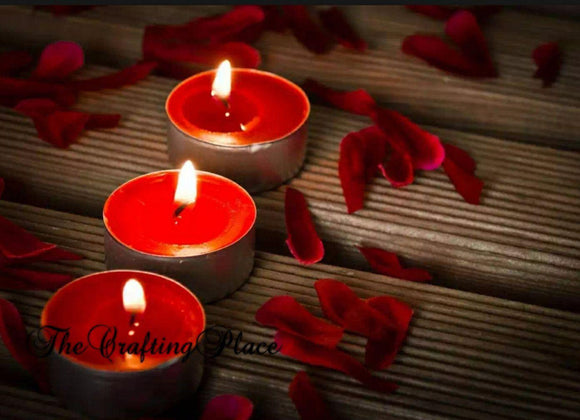 Red tealight candles- 10 small candles for bridal shower decor for birthday decor and anniversary decor Valentine (4839325630549)