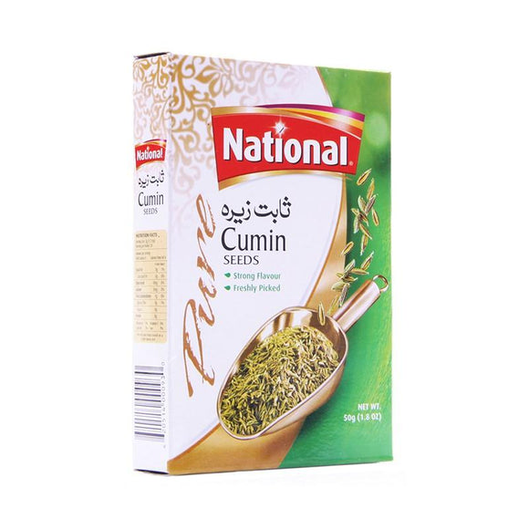 National Cumin Seeds Zeere Ke Beej 50gm (4611884056661)