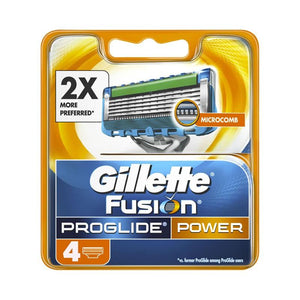 Pack of 4 Gillette Fusion Proglide Power Cartridges Razor (4611952967765)