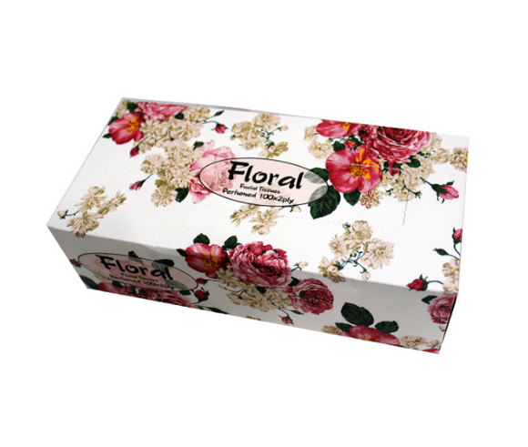 Floral Permued 100X2Ply Tissue (4639012421717)