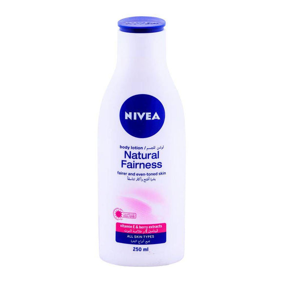 Nivea Natural Fairness Body Lotion All Skin Types 250ml (4627698188373)