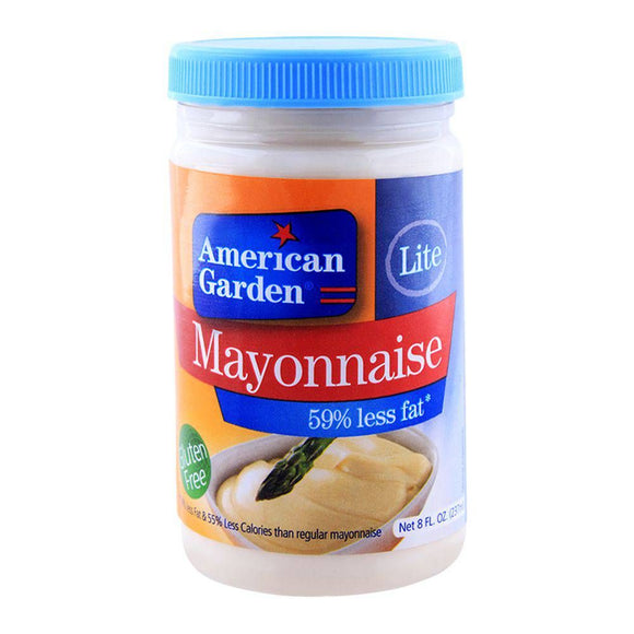 American Garden Lite Mayonnaise, 59% Less Fat Gluten Free 8oz 237ml