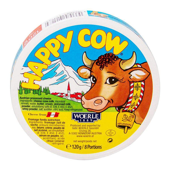 Happy Cow Processed Cheese 8 Portion 120g