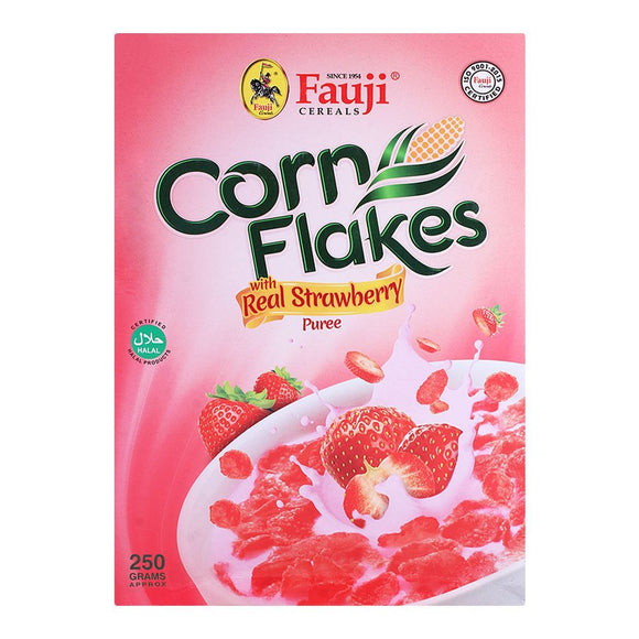 Fauji Corn Flakes with Real Strawberry