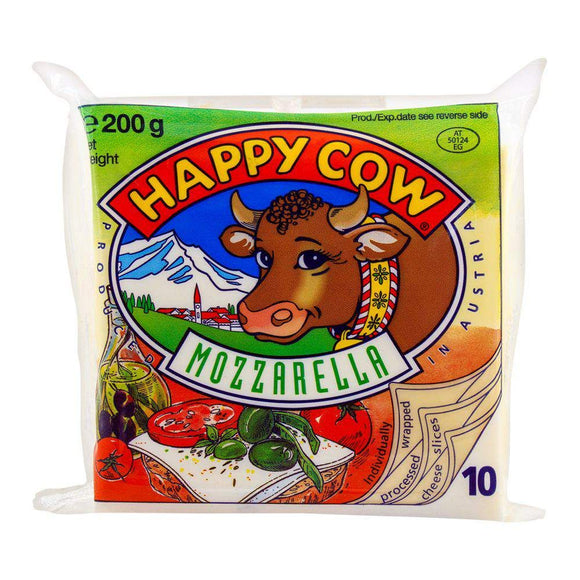 Happy Cow Mozzarella Slice 10 Pack 200g (4636458483797)
