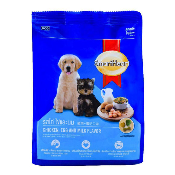 SmartHeart Puppy Chicken, Egg & Milk Flavor Dog Food 500g (4706096382037)