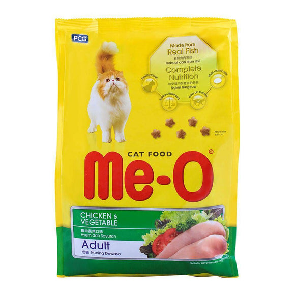 Me-O Adult Chicken & Vegetable Cat Food 1.2 KG (4634332856405)