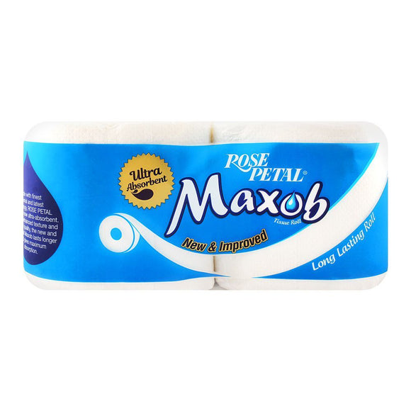 Rose Petal Maxob Twin Toilet Tissue Roll