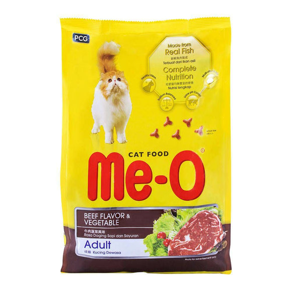 Me-O Adult Beef Flavor & Vegetable Cat Food 1.2 KG (4634328039509)