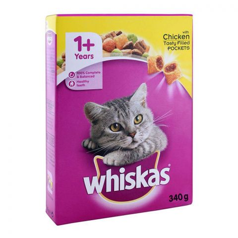 Whiskas 1+ Year Chicken Cat Food 340g (4760544247893)
