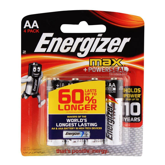 Energizer AA Max Batteries 4-Pack BP-4 (4703237275733)