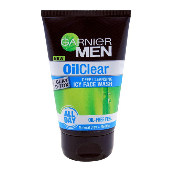 Garnier Men Oil Clear Deep Cleansing Icy Face Wash 100g (4616819048533)