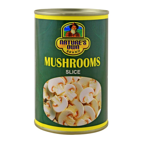 Nature's Own Brand Mushrooms Slice, Tin, 400g (4704440680533)