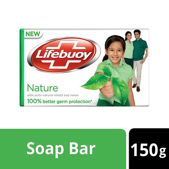 Pack of 3Lifebuoy - Lifebuoy Nature Soap - 150gm (4611975708757)